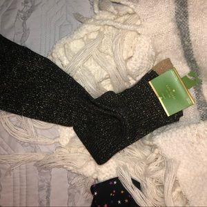 NWT kate spade knee high glitter socks